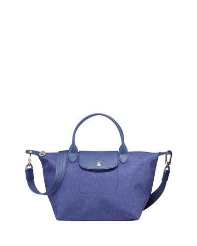 Le Pliage Neo Denim-Print Top-Handle Bag