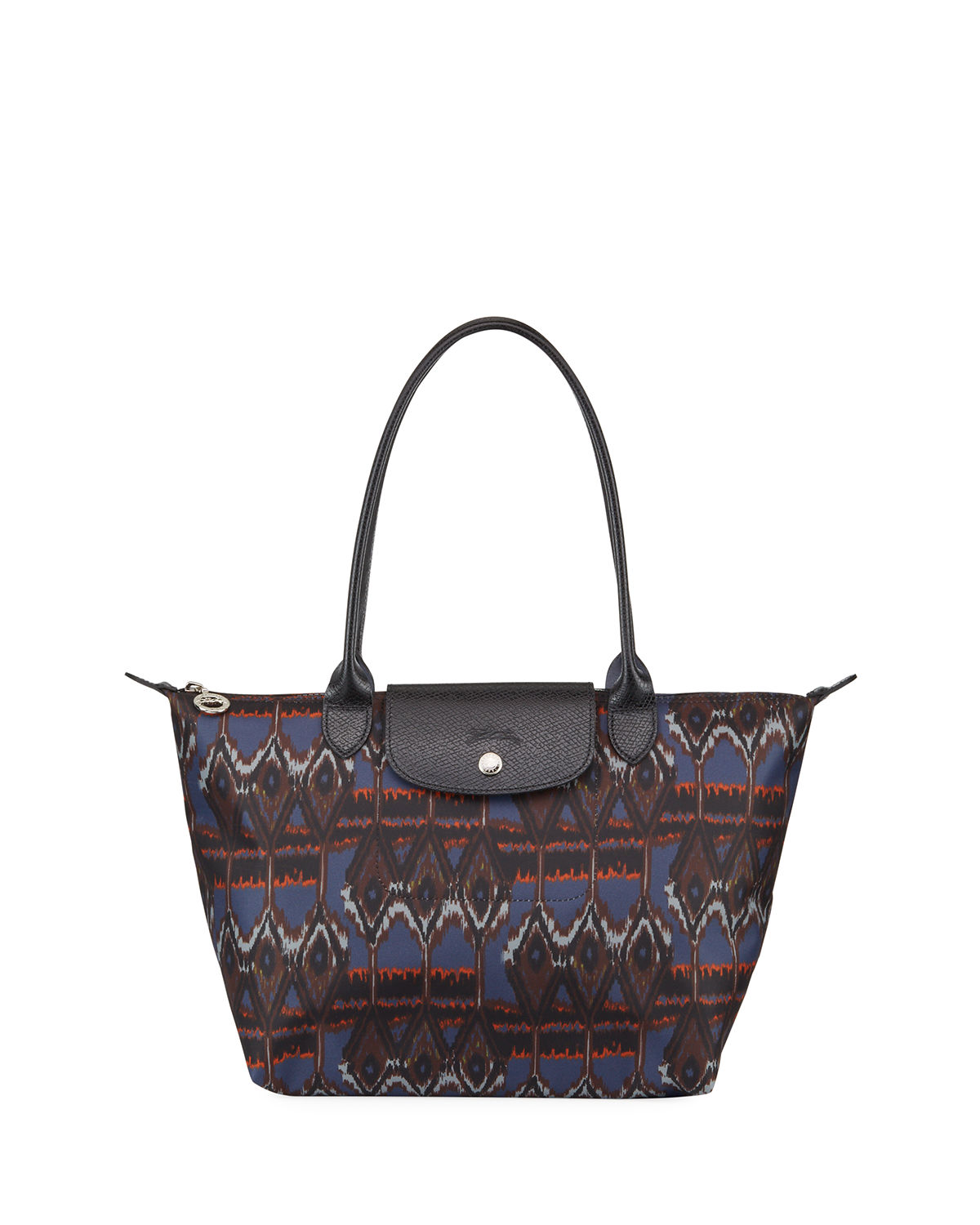 Le Pliage Ikat-Print Shoulder Tote Bag