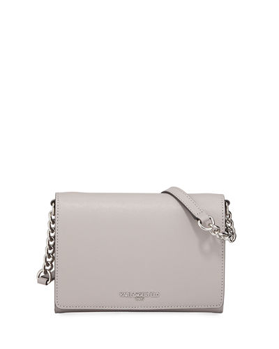 Connie Flap Top Leather Crossbody Bag