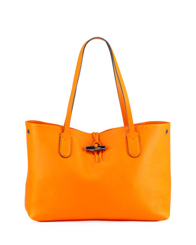 Roseau Medium Leather Tote Bag