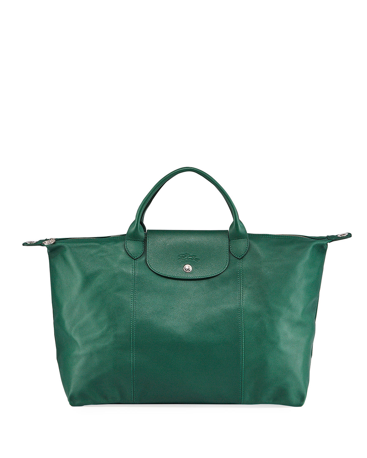 Le Pliage Cuir Large Tote Bag
