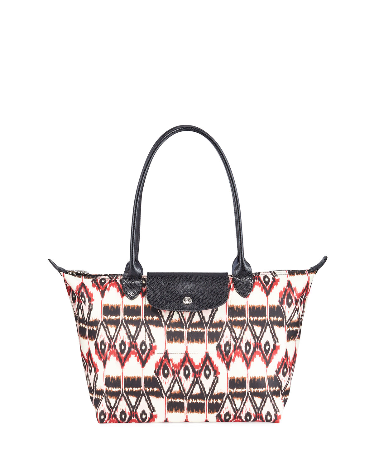 Le Pliage Small Ikat-Print Shoulder Tote Bag