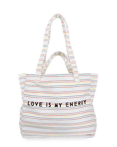 Love is My Energy Canvas Shopper Tote Bag