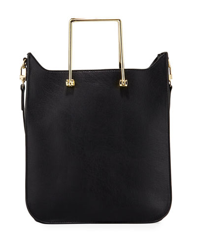 Erin Faux-Leather Satchel Bag