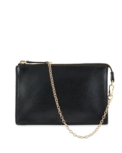 Mini Leather Zip Pouch Shoulder Bag