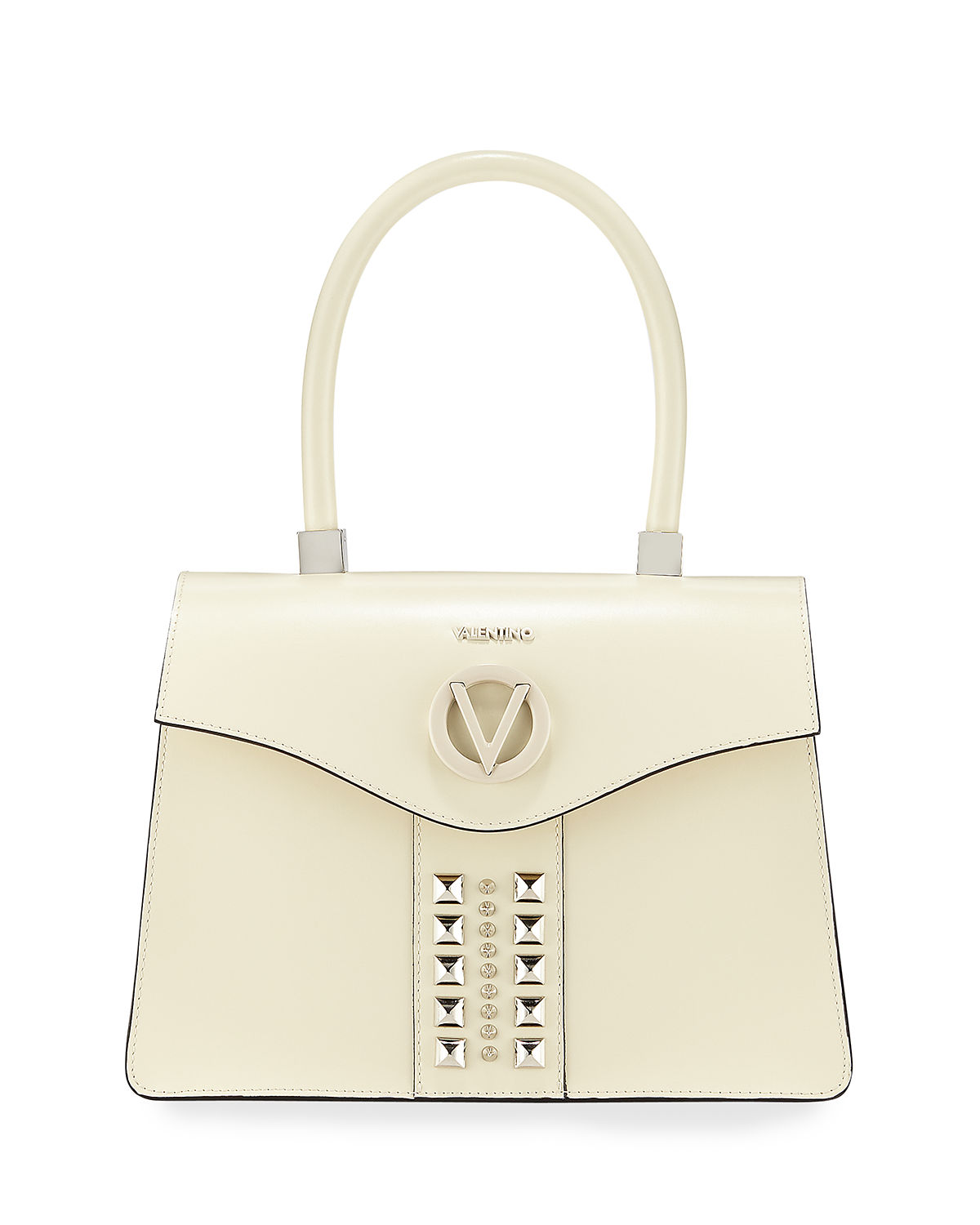 Melanie Soave Studded Leather Top-Handle Bag