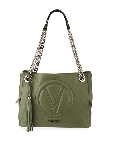 Luisa Sauvage Quilted Logo Shoulder Bag
