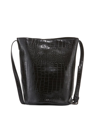 Mock Croc Bucket Bag