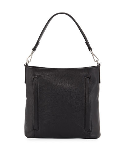 Leather Dual-Zip Hobo Bag