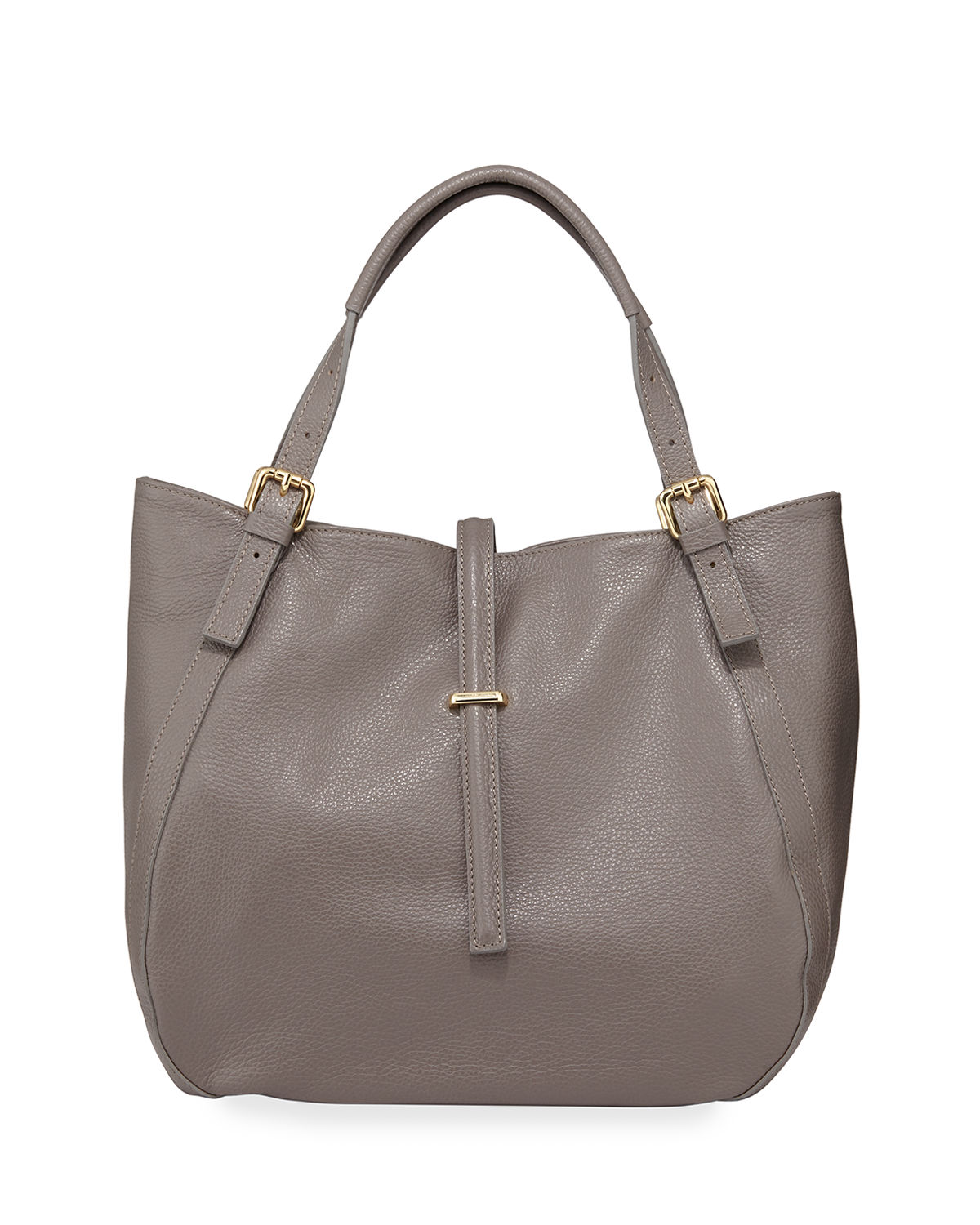 Slouchy Leather Top Handle Tote Bag