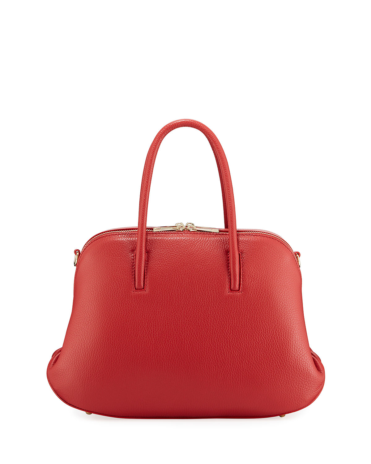 Minimalist Bowler Top Handle Satchel Bag
