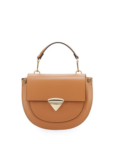Leather Flap Top Crossbody Bag
