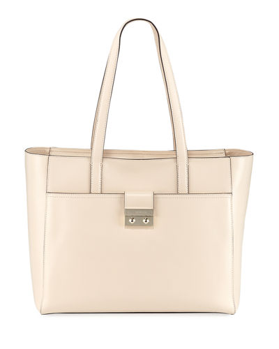 Lock Leather Tote Bag