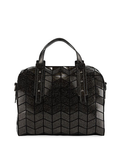 Metallic Geometric Tile Bowling Bag