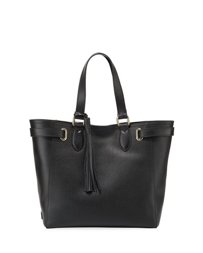 Eyelet Leather Tote Bag