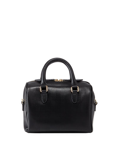 Aster Textured Leather Satchel Bag