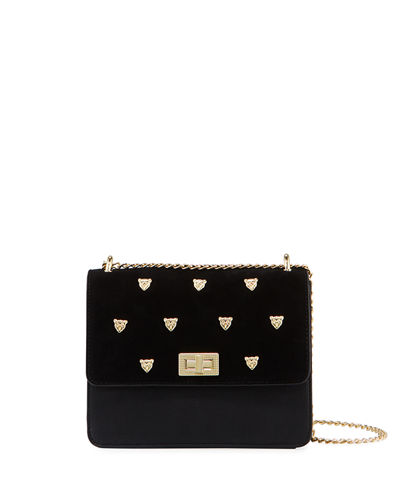 Gueni Flap-Top Studded Shoulder Bag