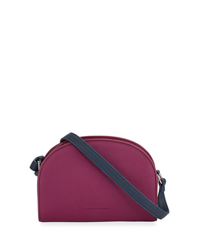 Barton Two Tone Half Moon Crossbody Bag