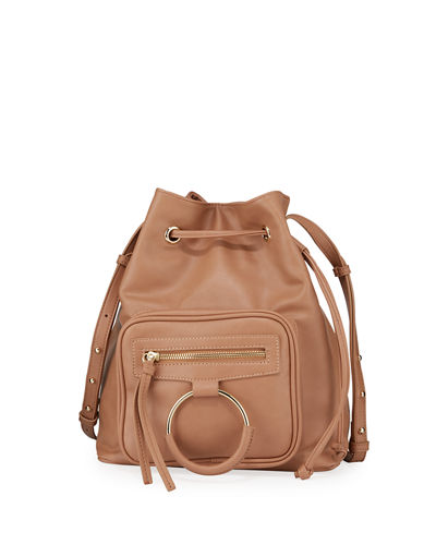 Casual Affair Vegan Leather Bucket Bag