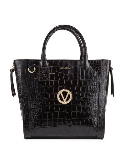 Charmont Croco Croc-Embossed Leather Tote Bag