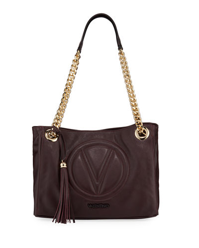 Luisa 2 Quilted Logo Leather Shoulder Tote Bag