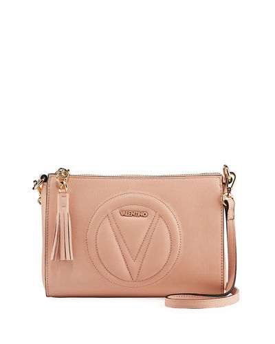 Susanne Leather Logo Medallion Crossbody Bag