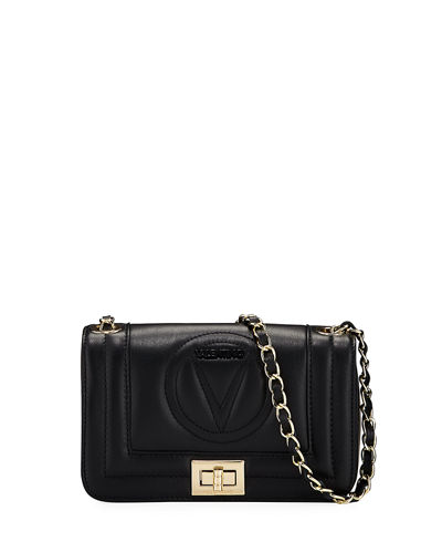Beatriz Sauvage Leather Medallion Shoulder Bag