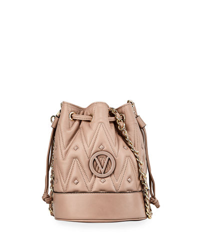 May D Sauvage Quilted Leather Bucket Bag