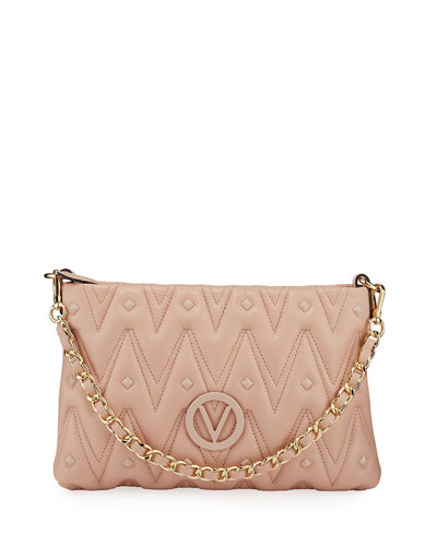 Vanille D Quilted Stud Leather Shoulder Bag