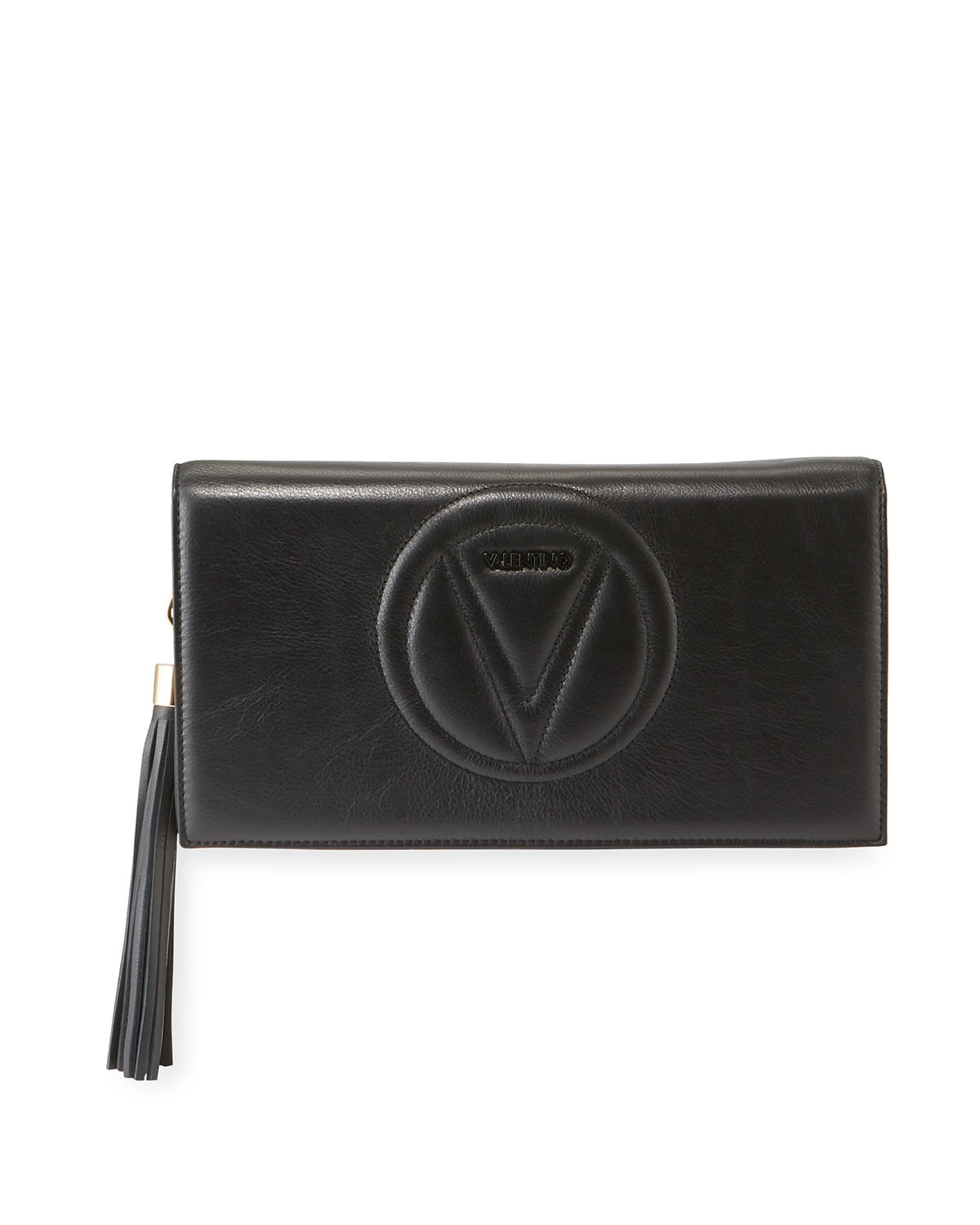 size 40 new images of best selection of 2019 Lena Leather Tassel Clutch Bag in Black