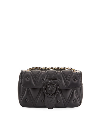 Poisson D Quilted Stud Leather Shoulder Bag