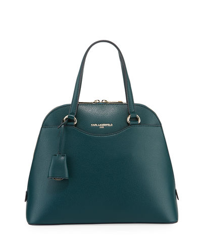 Doreen Leather Top-Handle Satchel Bag