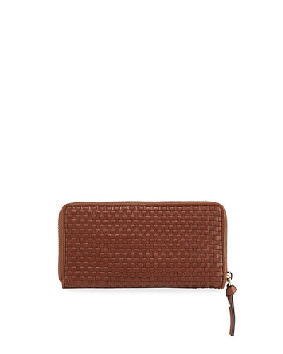 Bethany Woven Leather Continental Wallet