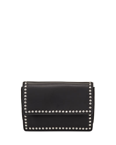 Studded Faux-Leather Crossbody Bag