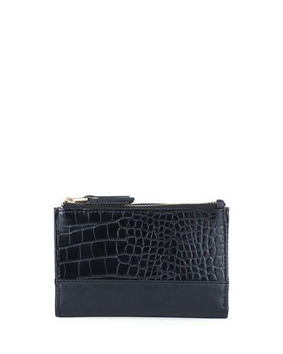 Mock-Croc Dual-Zip Wallet