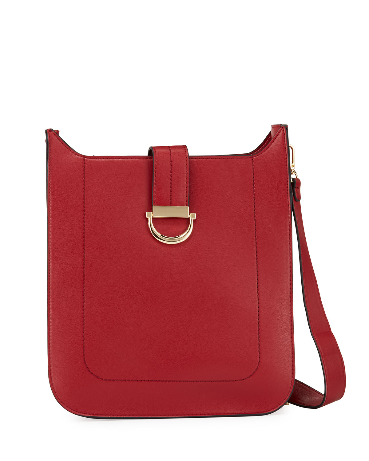 Neiman Marcus Crossbody SCOUT FAUX-LEATHER CROSSBODY BAG