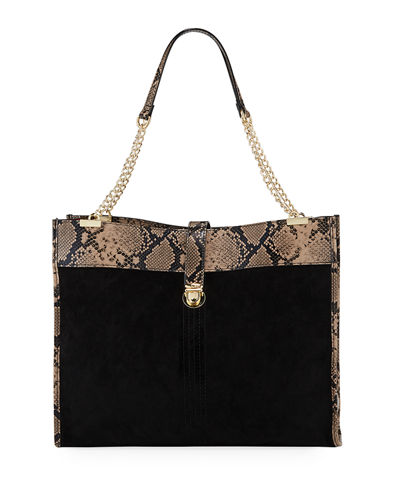Reed Snake-Print Large Shopper Tote Bag