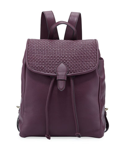 Bethany Woven Leather Backpack