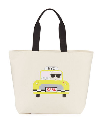 Kristen Yellow Taxi Canvas Tote Bag