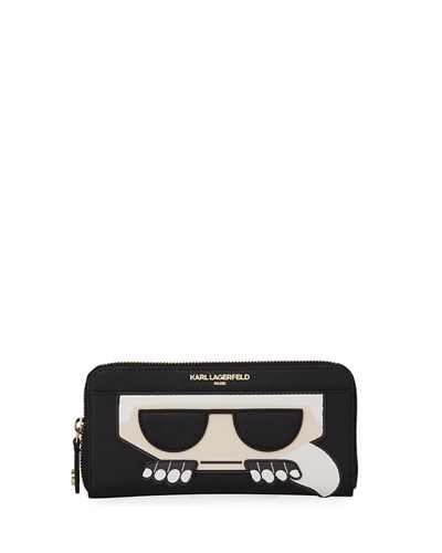 Choupette Cat Patch Continental Wallet