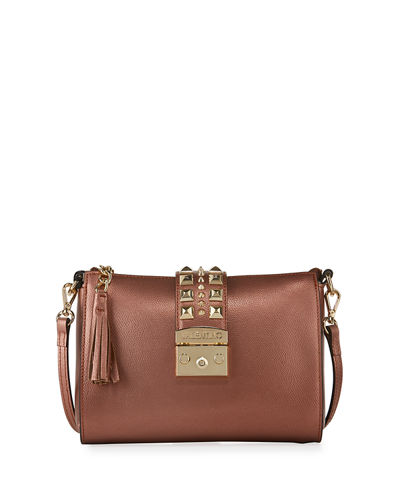 Coline Metallic Studded Crossbody Bag