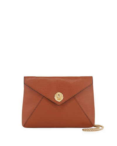 Finn Lion Medallion Envelope Shoulder Bag