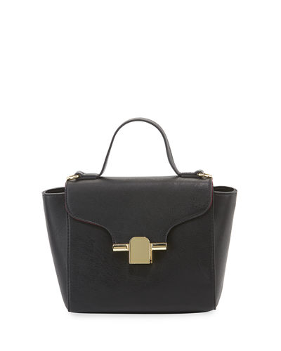 Augusta Faux-Leather Top Handle Satchel Bag