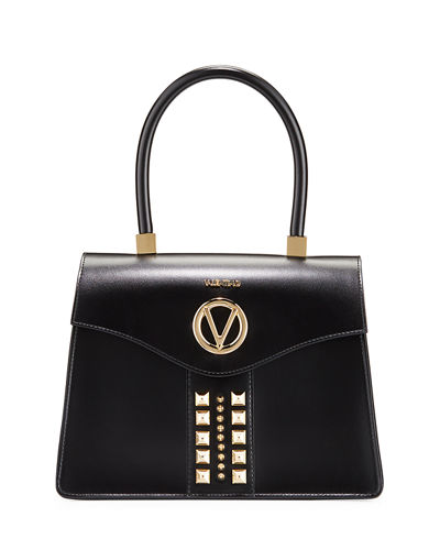 Melanie Studded Top-Handle Satchel Bag