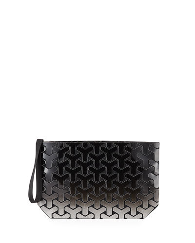 Ombre Geometric Y Tiled Clutch Bag