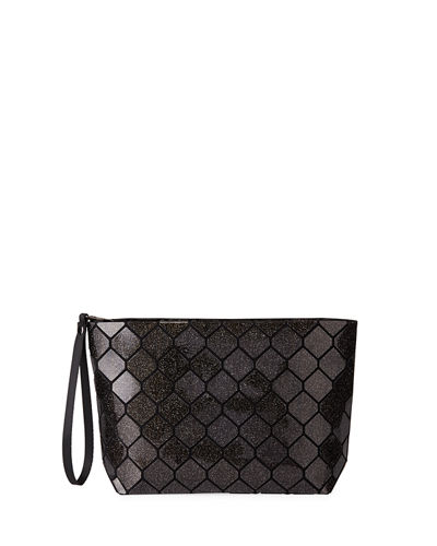 Honeycomb Geometric Tiled Clutch Bag