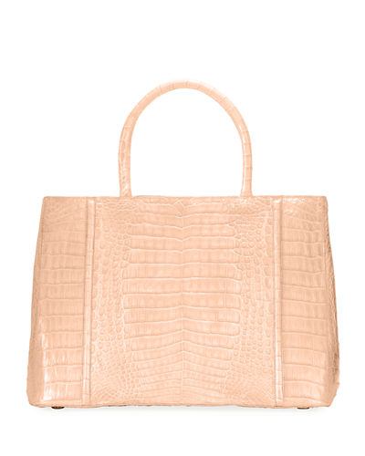 Crocodile Large Top Handle Tote Bag