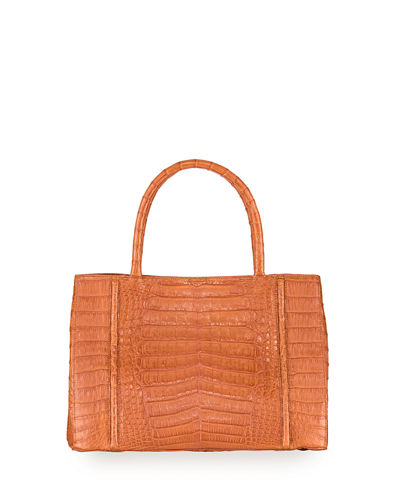 Top-Handle Crocodile Large Satchel Bag