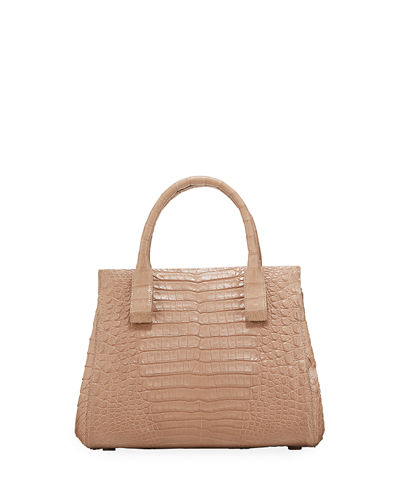 Daisy Small Crocodile Satchel Bag