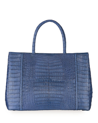 Large Crocodile Top Handle Tote Bag